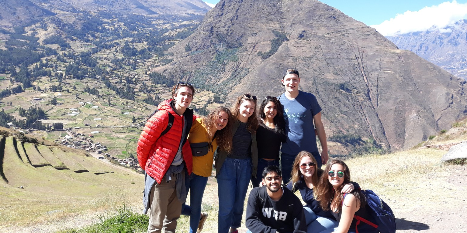 HIEP recipients in South America - Sophia Lahey and friends visiting Incan ruins in Peru