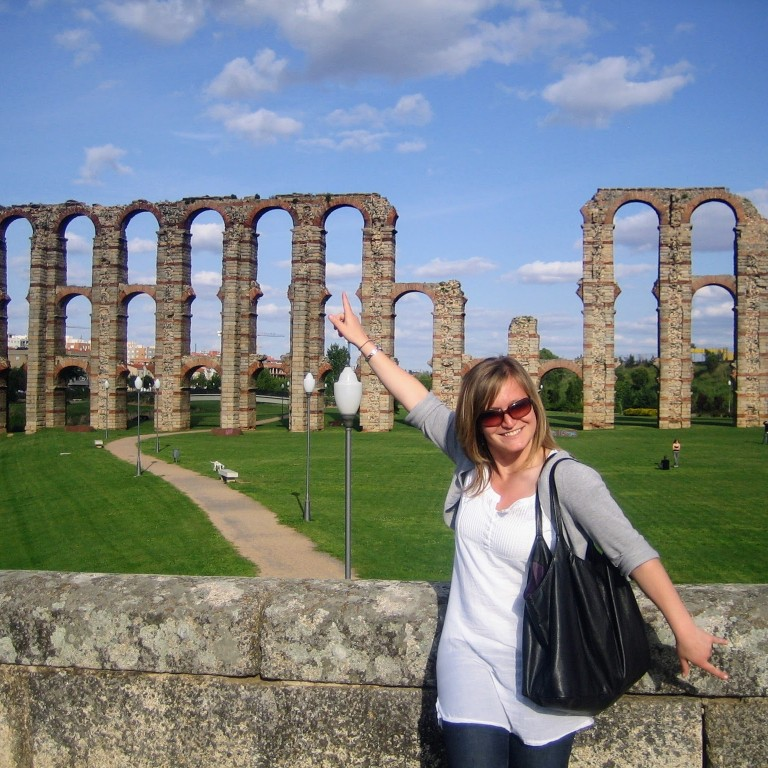 HIEP recipient photo from travel in Europe - Audrey Hagedorn in Spain visiting Roman ruins