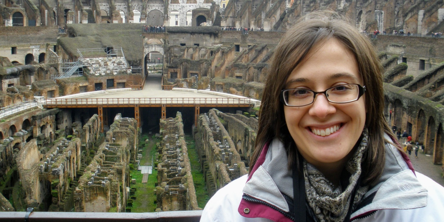 HIEP recipient photo from travel in Europe - Student visiting the Collosseum in Rome