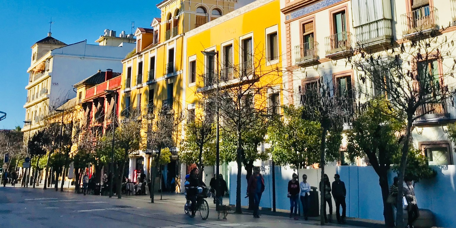 HIEP recipients in Spain - Orly Genin's photo of colorful buildings lining a street in Seville